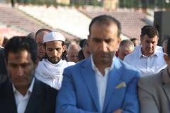 Moslems, die Eid al-Fitr feiern Stockfotografie