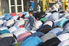 Moslems, die Eid al-Fitr feiern Stockbild