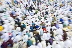 Moslems, die Eid al-Fitr feiern, das das Ende des Monats von Ramadan markiert Lizenzfreies Stockfoto