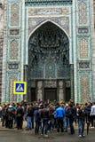 Moslems feiern Eid al-Fitr nahe der zentralen Moschee in St.-Haustier Lizenzfreie Stockfotografie