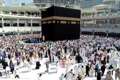 Moslems traten im Mekka der verschiedenen Länder der Welt zusammen Lizenzfreie Stockfotos