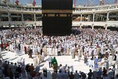 Moslems traten im Mekka der verschiedenen Länder der Welt zusammen Stockbild