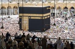 Moslems traten im Mekka der Welt-` s verschiedenen Länder zusammen Lizenzfreie Stockfotografie