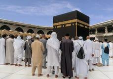 Moslems traten im Mekka der Welt-` s verschiedenen Länder zusammen Lizenzfreie Stockbilder