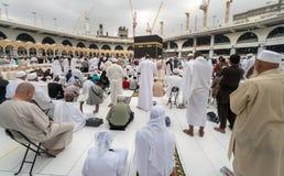 Moslems traten im Mekka der Welt-` s verschiedenen Länder zusammen Stockbild