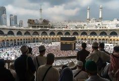 Moslems traten im Mekka der Welt-` s verschiedenen Länder zusammen Lizenzfreies Stockbild