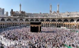 Moslems traten im Mekka der Welt-` s verschiedenen Länder zusammen Stockfoto