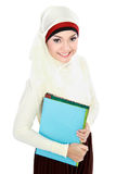 Moslim Aziatische student Royalty-vrije Stock Afbeeldingen