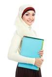 Moslim Aziatische student Stock Afbeelding