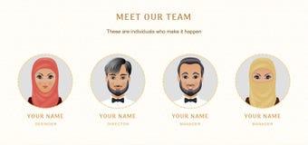 Moslim bedrijfsset van tekens Banners voor uw Webontwerp in B Royalty-vrije Stock Fotografie