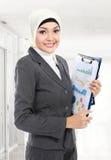 Moslim bedrijfsvrouw stock foto's