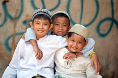 Moslim Jonge geitjes Royalty-vrije Stock Foto
