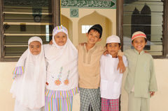 Moslim Jonge geitjes Stock Fotografie