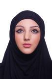 Moslim jonge vrouw die hijab dragen Royalty-vrije Stock Foto