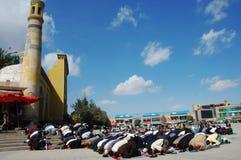 Moslim worshipers stock foto's