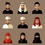 Moslimavatars Stock Foto's