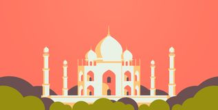 Moslimcityscape moskee vlak horizontale de bouwgodsdienst royalty-vrije illustratie