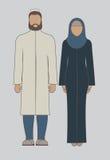 Moslimfamilie Stock Afbeeldingen