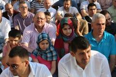 Moslims die Eid al-Fitr vieren Stock Foto