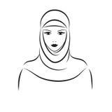Moslimvrouw Royalty-vrije Stock Afbeeldingen