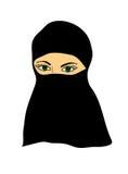 Moslimvrouw die een sluier dragen Royalty-vrije Stock Foto's