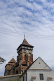 Mosna church in Transylvania Stock Images
