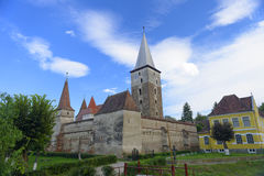 Mosna fortified church. Scenic view of the fortified church in Mosna, Transylvania, Romania stock photography