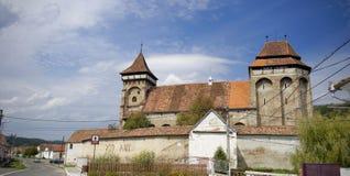 Mosna ha fortificato la chiesa, Sighisoara, la Transilvania, Romania Fotografia Stock