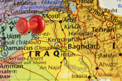 Mosoel in Irak De strijden voor stad gaan nog  Stock Afbeeldingen