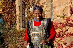 Mosotho Dame At Work Stockbild
