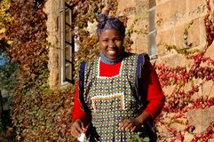 Mosotho Lady At Work Stock Image