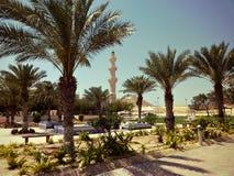 Mosq i Dukhan Qatar Arkivfoto
