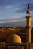 Mosquée au coucher du soleil Image libre de droits