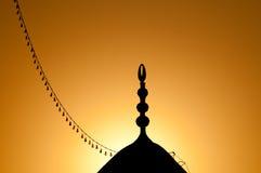 Mosquée au coucher du soleil Photo stock