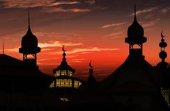 Mosquée au coucher du soleil Images stock