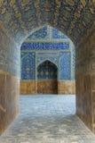Mosquée bleue à Isphahan, Iran photographie stock
