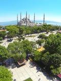 Mosquée bleue, aérienne Photos libres de droits