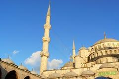 Mosquée bleue dans la lumière Istanbul, Turquie de coucher du soleil Photographie stock