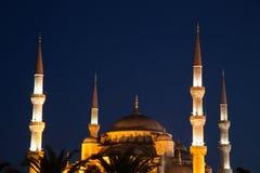Mosquée bleue la nuit photographie stock
