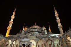 Mosquée bleue la nuit photo libre de droits