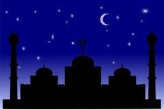 Mosquée - ciel bleu de gradation Image libre de droits