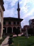 Mosquée décorée dans la ville de Tetovo Photos stock