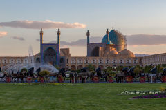 Mosquée d'abbasi de Jame et place jahan de naghsh Photographie stock