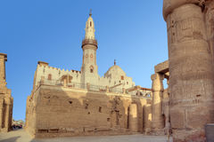 Mosquée d'Al-Haggag d'Abu dans le temple de Luxor photo libre de droits