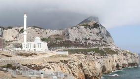 Mosquée d'Ibrahim-Al-Ibrahim, point d'Europa, Gibraltar banque de vidéos