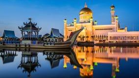 Mosquée d'Omar Ali Saifuddien de sultan, Brunei Photographie stock