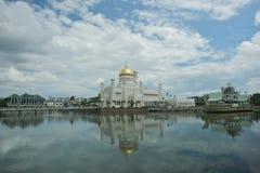 Mosquée d'Omar Ali Saifuddin de sultan images stock