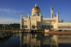 Mosquée d'Omar Ali Saifudding de sultan, Brunei photo libre de droits