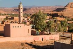 Mosquée dans AIT Ben Haddou, Maroc Images libres de droits
