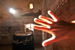 Mosquée dans l'oasis Photographie stock